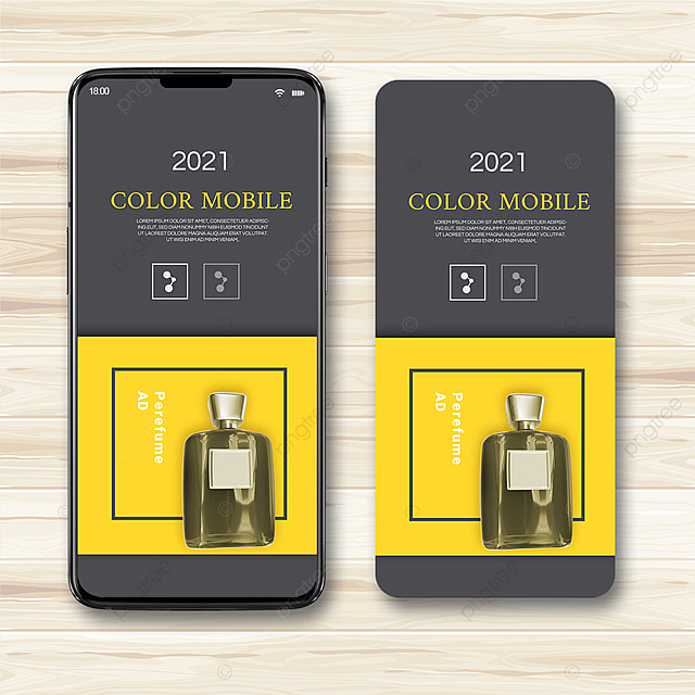 simple texture gray yellow 2021 trend promotion template