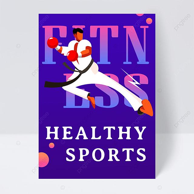 sports fitness taekwondo online course flyer