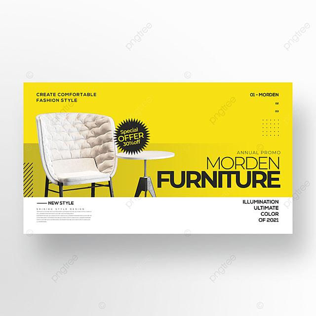 trend fashion simple furniture color web banner