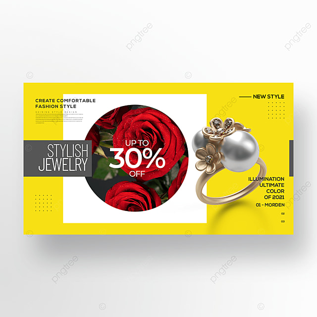 trend simple fashion color jewelry banner