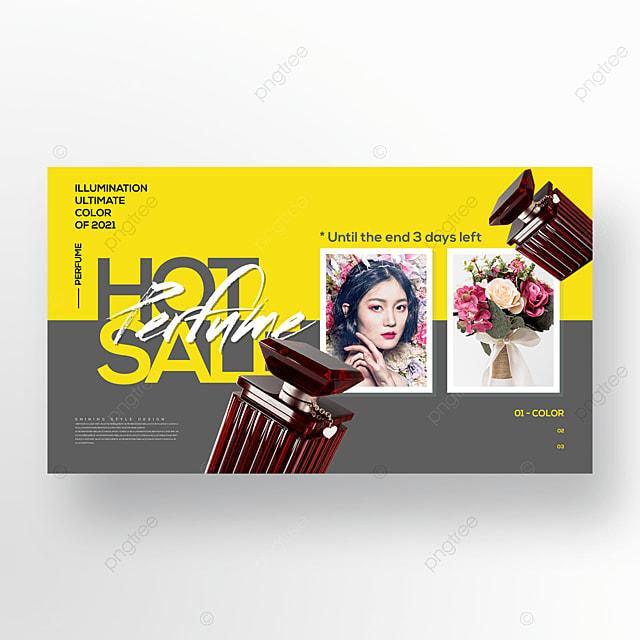 trend simple fashion perfume web banner