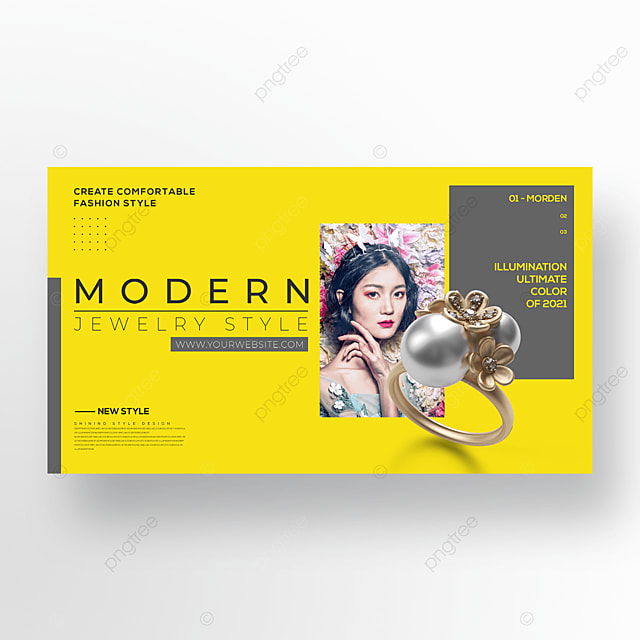 trend simple jewelry color banner