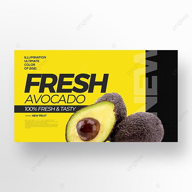 trending color avocado promotion banner