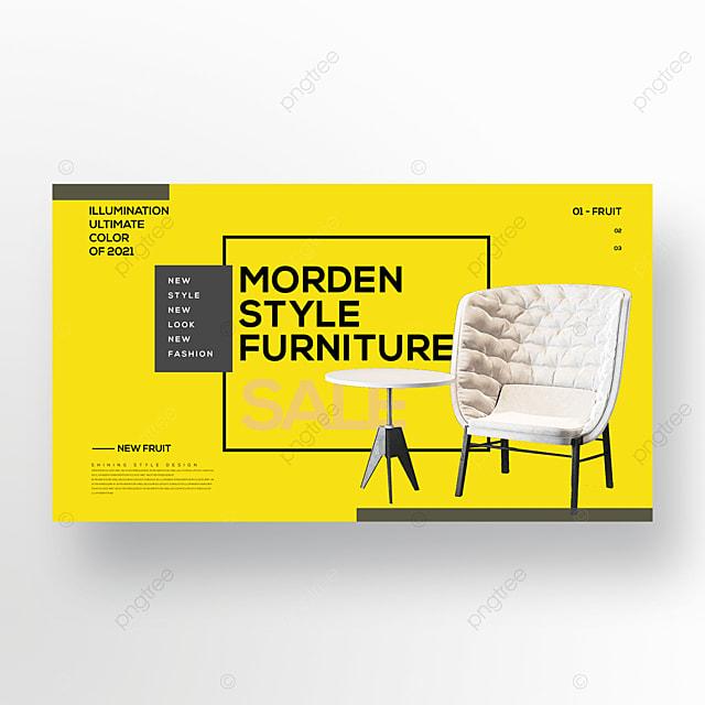 trending colors fashion furniture web banner