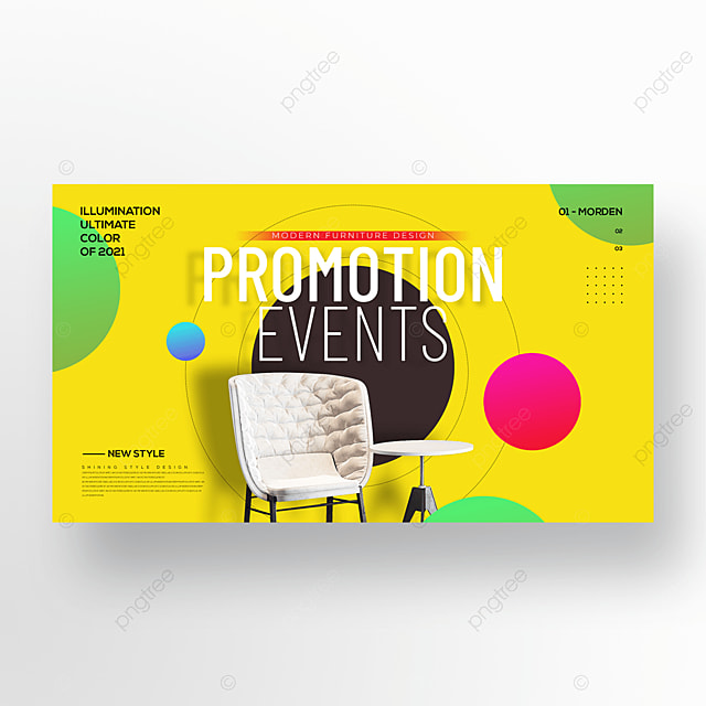 trending personalized color furniture web banners