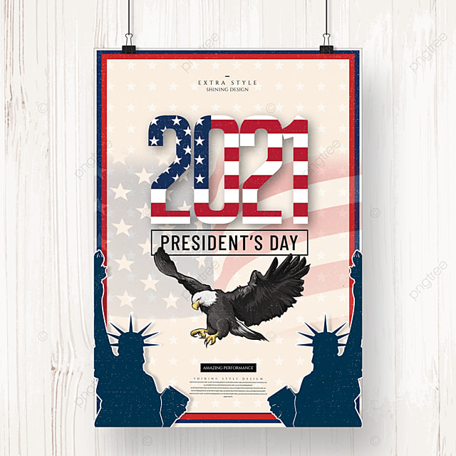 vintage creative american presidents day holiday poster