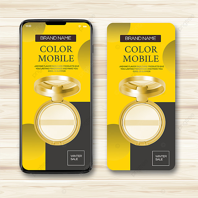 yellow gray simple gradient 2021 trend promotion template