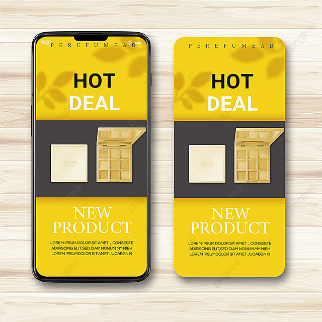 yellow gray simple texture 2021 trend promotion template