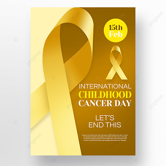 yellow ribbon childrens cancer day poster