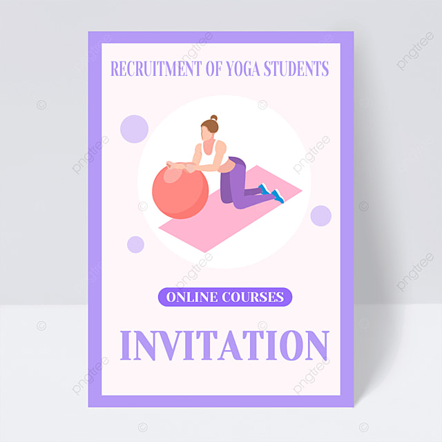 yoga exercise online course leaflet