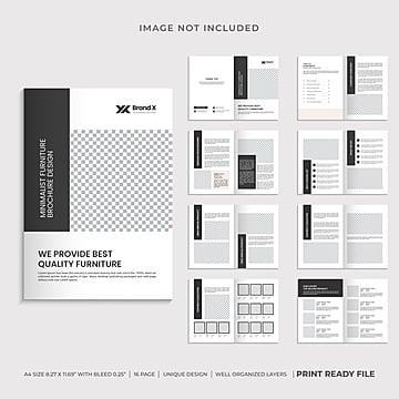 каталог шаблонов брошюр по мебели Шаблон