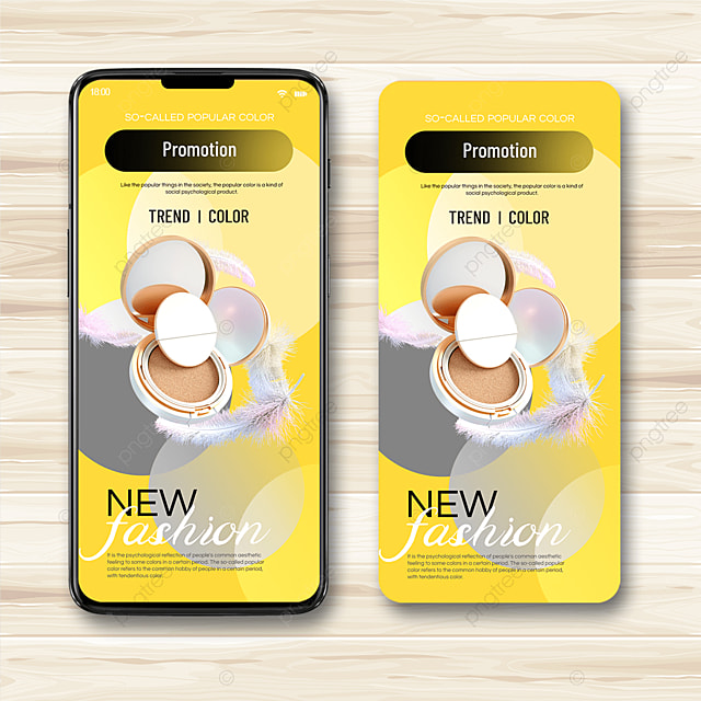 beauty trend color mobile advertising