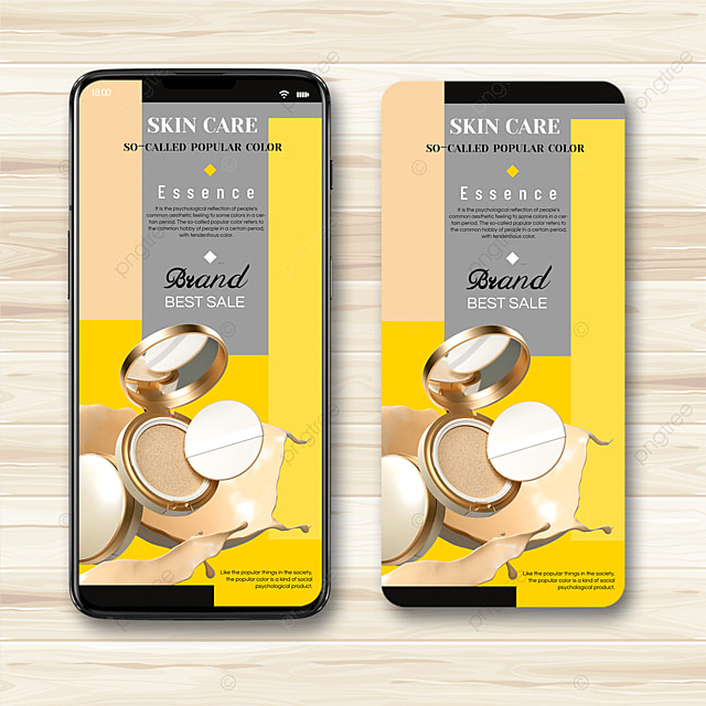 cosmetic trend color mobile advertising