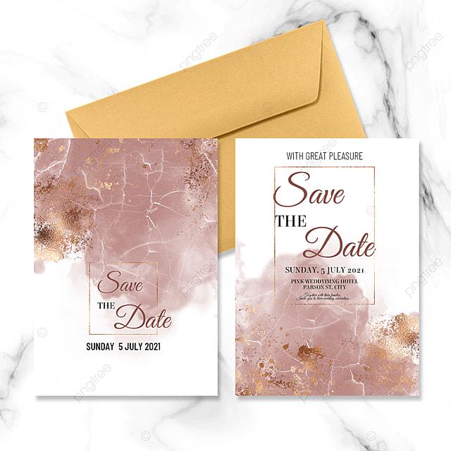 golden marble wedding invitation design