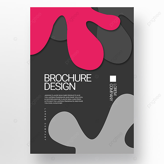 gray paper cut style irregular fluid shape brochure cover promotion template