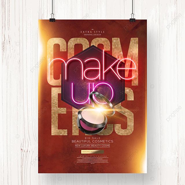 neon fashion premium cosmetics poster