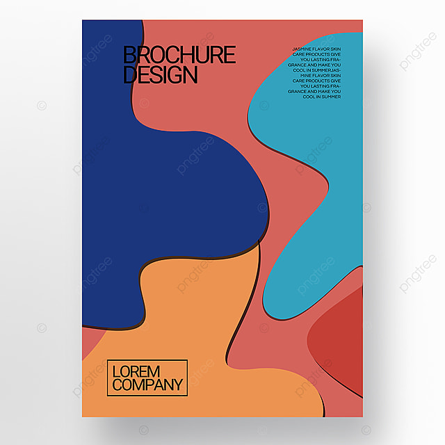 paper cut style irregular shape brochure cover promotion template