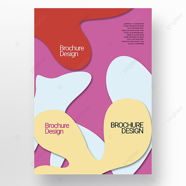 paper cut three dimensional style irregular fluid shape brochure cover promotion template