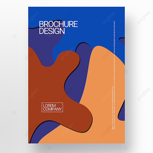 paper cut three dimensional style irregular shape brochure cover promotion template