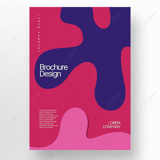 red paper cut stereo style irregular fluid shape brochure cover promotion template