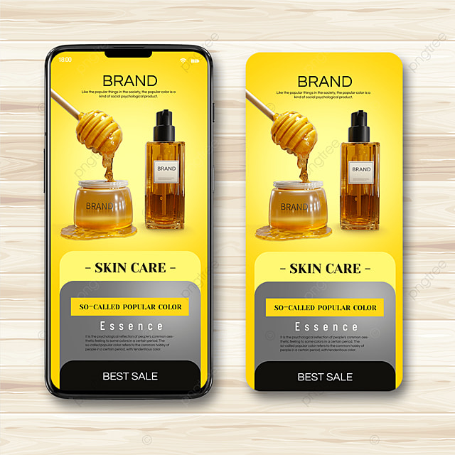 skincare trend color mobile promotion