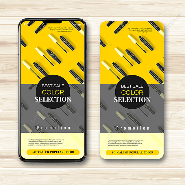 yellow gray trend color mobile advertising