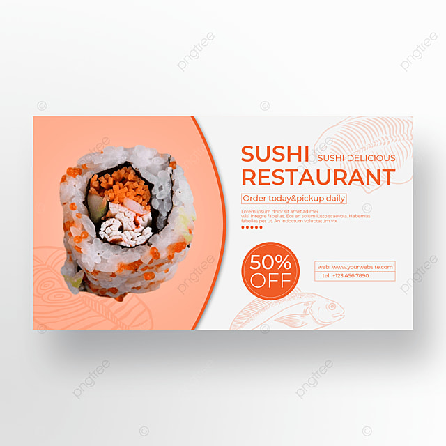 discount promotion sushi banner
