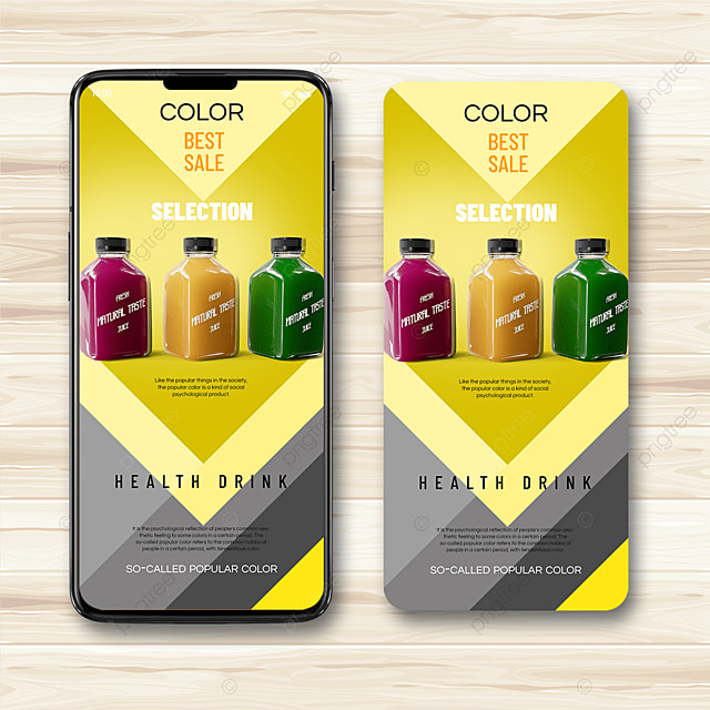 drink trend color mobile terminal promotion