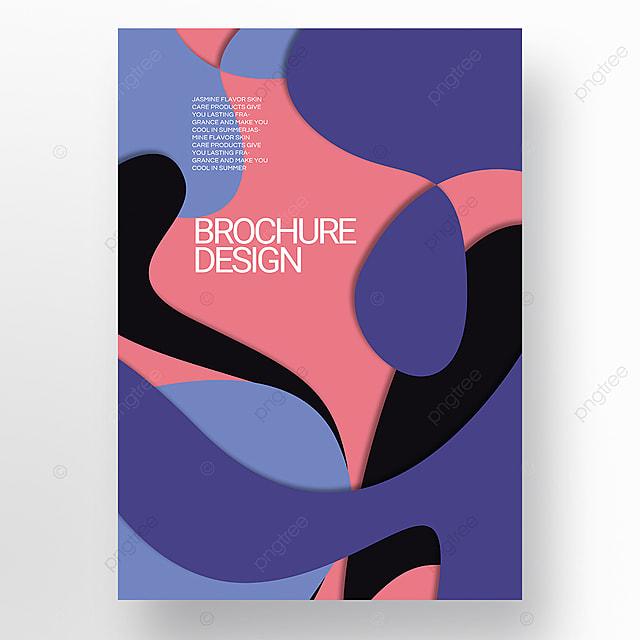 paper cut style irregular fluid shape brochure cover promotion template