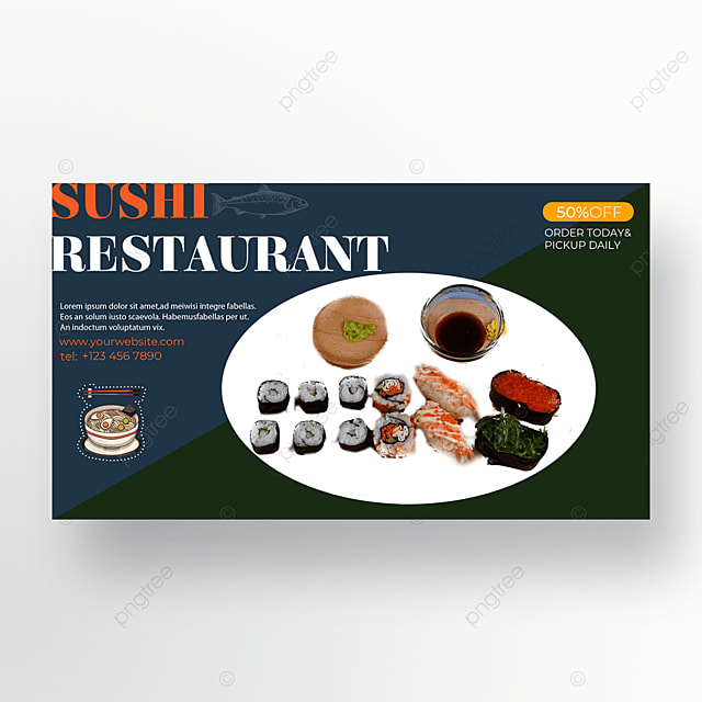 promotion discount sushi banner