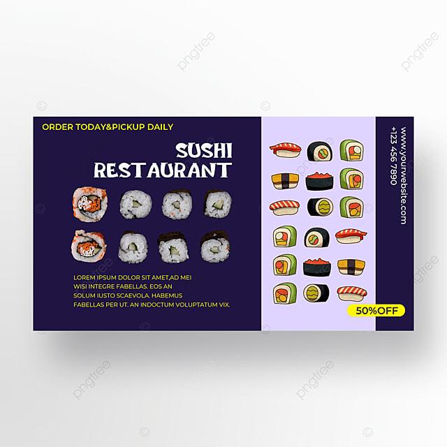 purple background sushi illustration