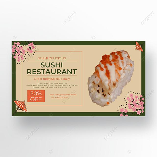 sakura sushi food banner