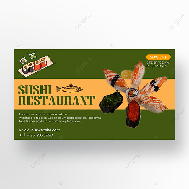 yellow green background sushi