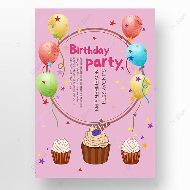 balloon birthday poster
