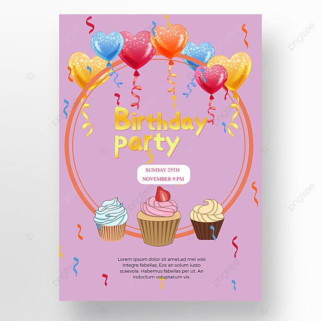 birthday purple poster