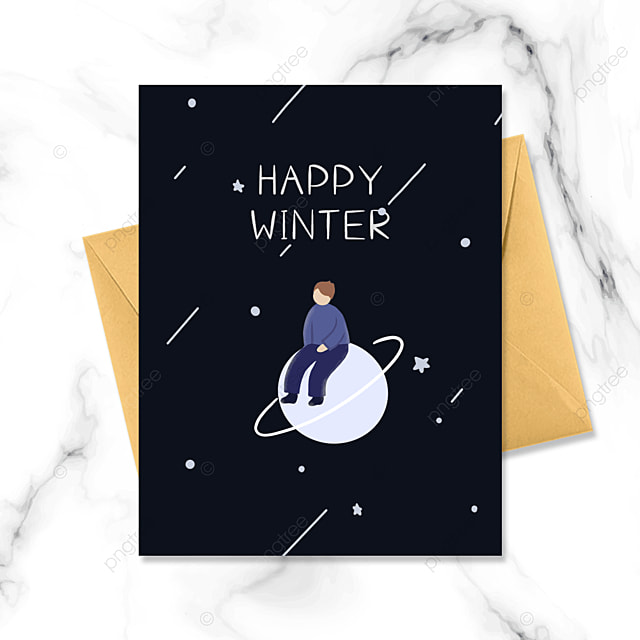 black cartoon character small card
