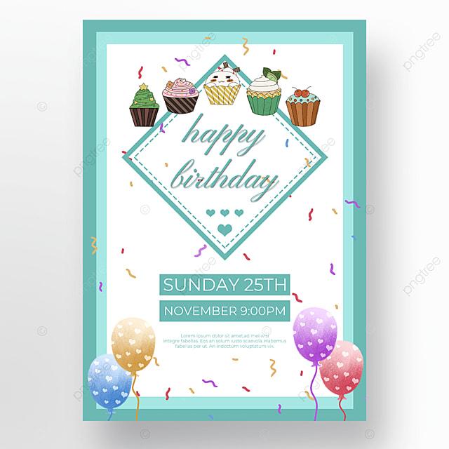 cake balloons on white background