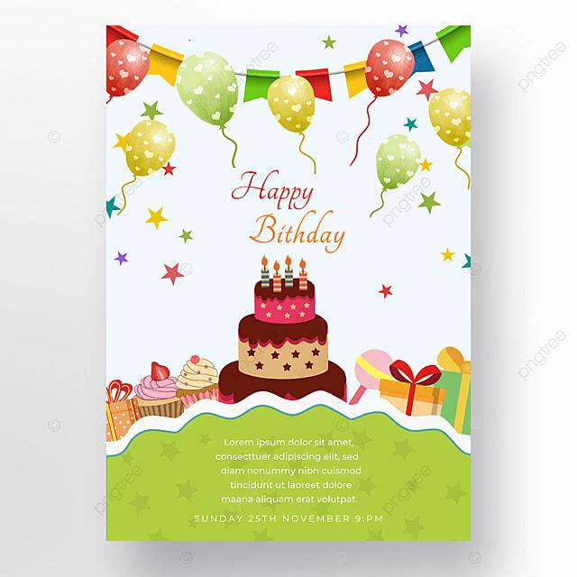 cake poster balloon