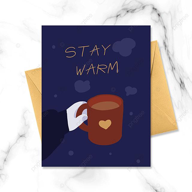 cartoon minimalistic warm winter
