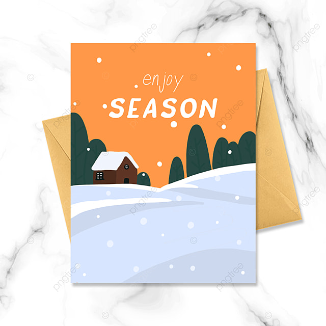 cartoon warm winter card