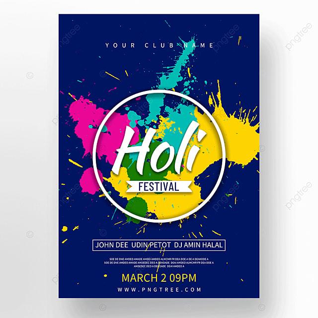 colorful brushes holi festival holi festival poster