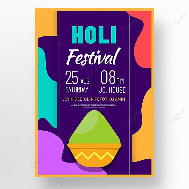 colorful holi festival holi festival poster