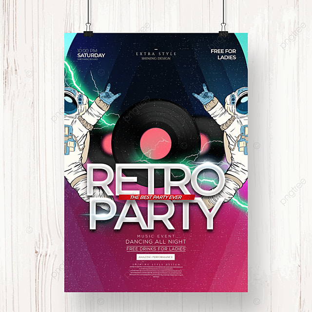 fashion music retro party poster