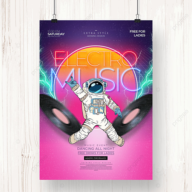 retro party fashion cool poster