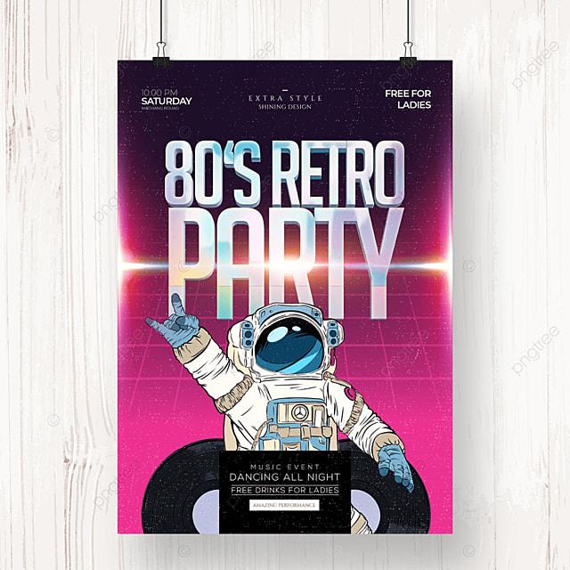 trend fashion retro color party poster