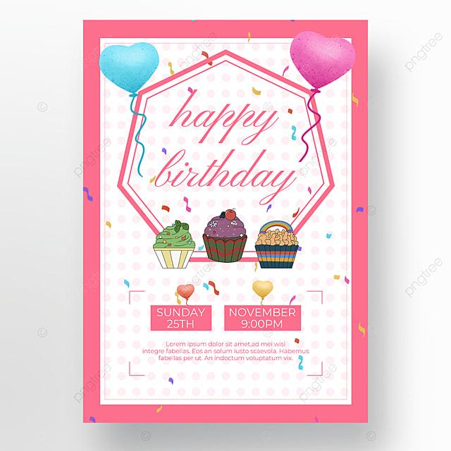 white background cake poster balloon