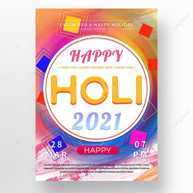 colorful colorful holi poster template