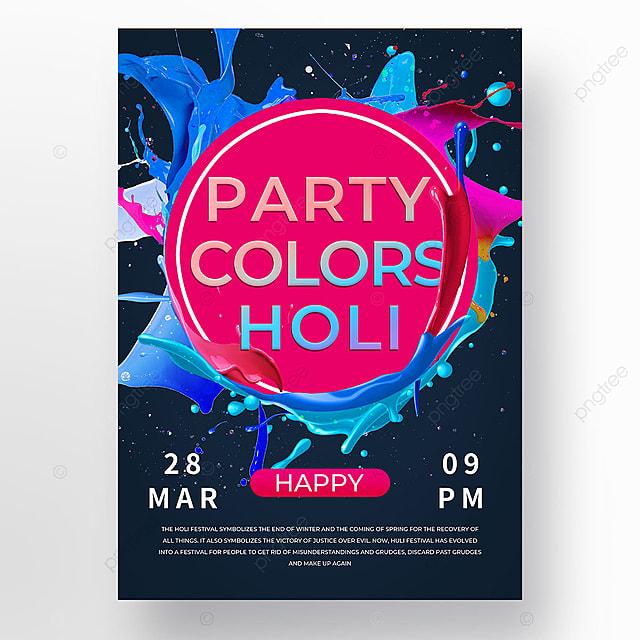 colorful gradient holi festival holi poster template