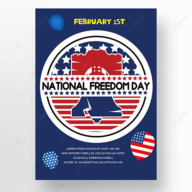 balloon blue background poster american freedom day