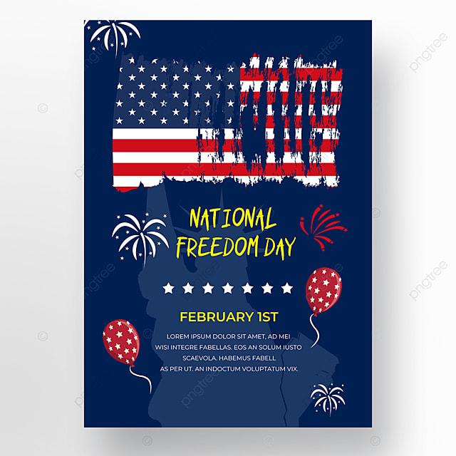dark blue background poster freedom day